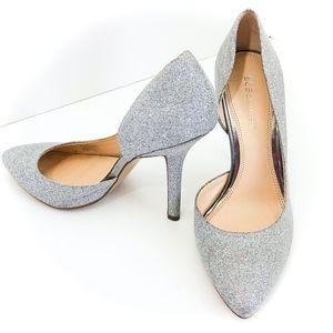 BCBGeneration Silver Glitter Jaze Pumps Heels